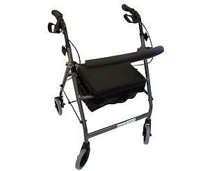 "Peak care Elipse 6"" Four Wheel Handbrake Walker"