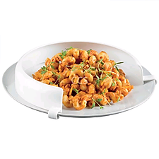 Incurve Plate Surround to Prevent Food Sliding from the plate when eating with one hand