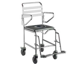 Shower Commode With Swing Away Footrests