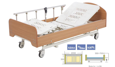 Peak Care bed with side rails