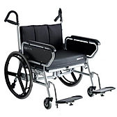 Bariatric folding wheelchair by XXL Rehab