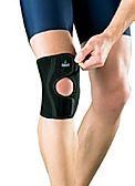 Support worn on the knee