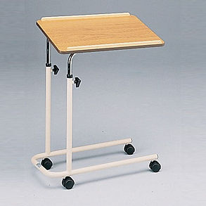 Over Days Bed Table With Four Castors