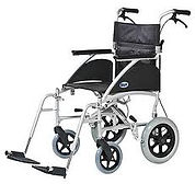 Lightweight Transit Wheelchair With Attendent Brakes