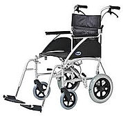 Lightweight Transit Wheelchair With Attendent Brakes