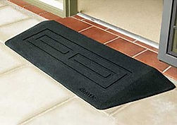 Made from slip resitant recycled runbber. Raven Lightweight Portable Ramps