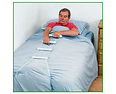 The bed rope ladder assists with sitting up in bed after an operation
