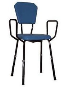 Kitchen Stool with adjustable height, padded back and arms