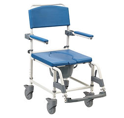 The Aston Attendent Propelled Shower Commode can be used soley as a commode if needed