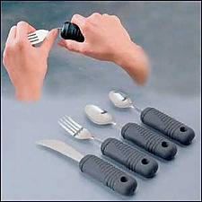 Super Grip Bendable Cutlery  for East Eating for people with tremors
