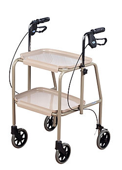 Adjutable Height Trolley Walker With Handbrakes
