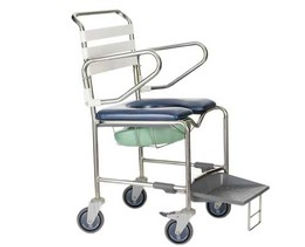 Shower Commode With Sliding Footrest