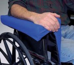 The Skil Care Lateral Body Support controls lateral leaning in a wheelchair