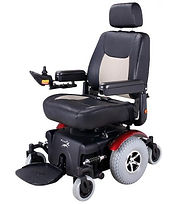 Front Suspension and Mid Wheel Drive - thats the Merits Maverick 12 Electric Wheelchair