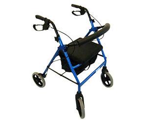 "Peak care Elipse 8"" Four Wheel Handbrake Walker"