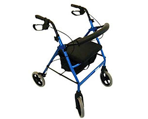 "Peak care Elipse 8"" Four Wheel Handbrake Walker"