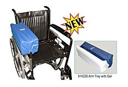 The Skil Care Lateral Stabiliser Arm Trough has agel insert and fits to most wheelchairs