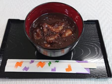 杵つき餅と北海道小豆の『お汁粉』