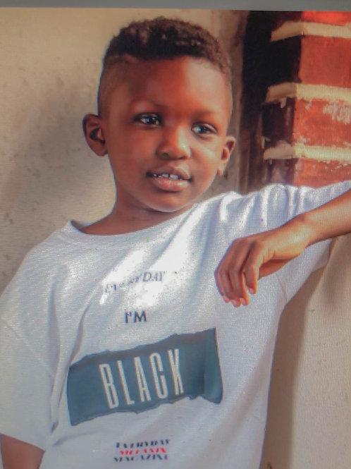 """Everyday I'm Black"" Kids T-Shirt"