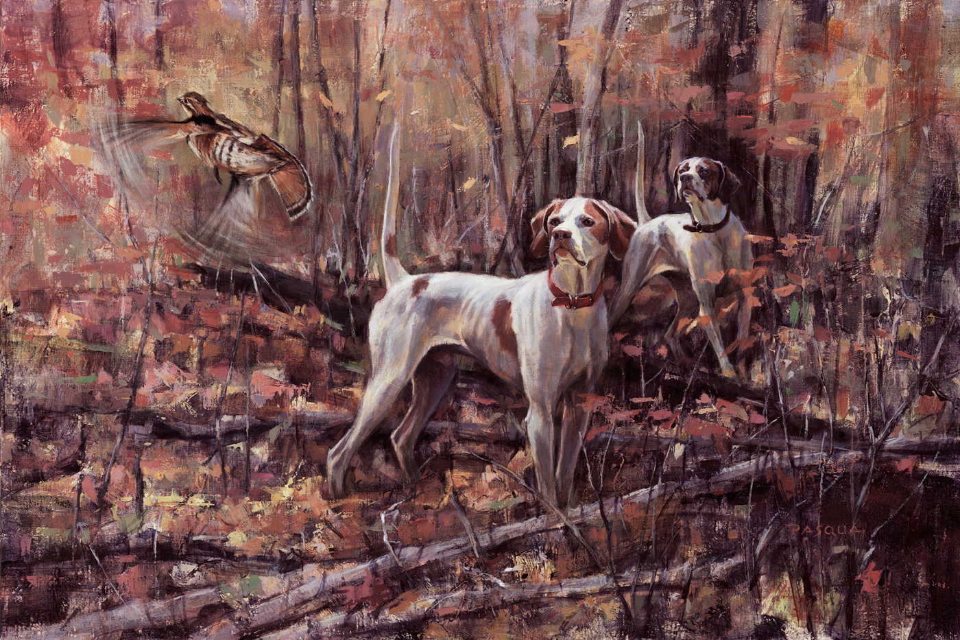 Hunter and Dot 16 x 24