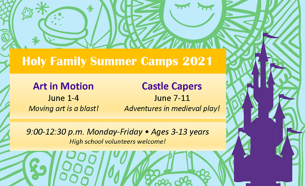 Camp themes, takes, times, ages