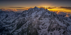 Mt Ritter backlit