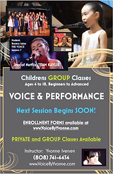 Kids Group Voice & Performance Classes