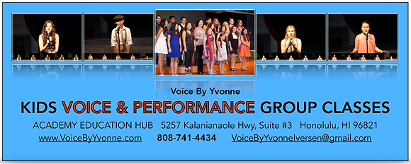 AUGUST 2020 Kids Group Voice Classes (Teens 8 - 18)