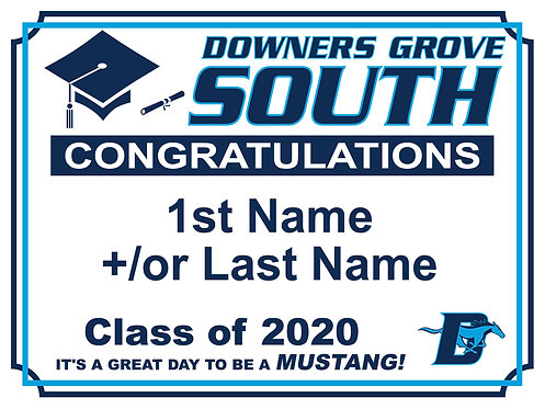 DGS Graduation Yard Sign