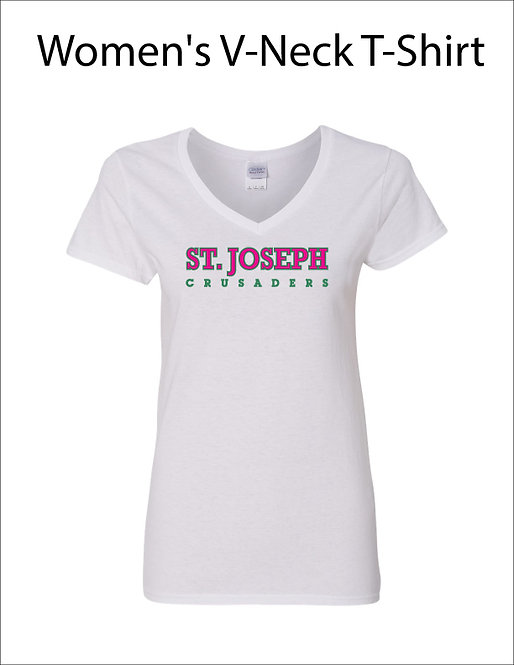 SJS Women's Text Shirt - White