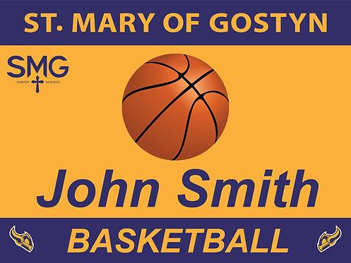 SMG Basketball Yard Sign