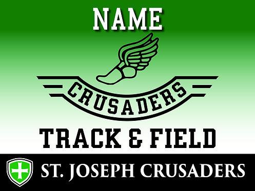 SJS Track Yard Sign