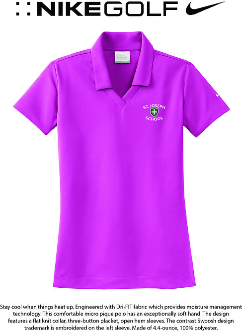 SJS Nike School Women's Polo - Pink