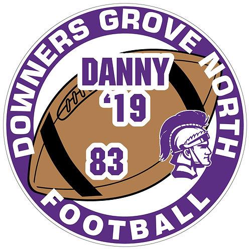 DGN Football Yard Sign
