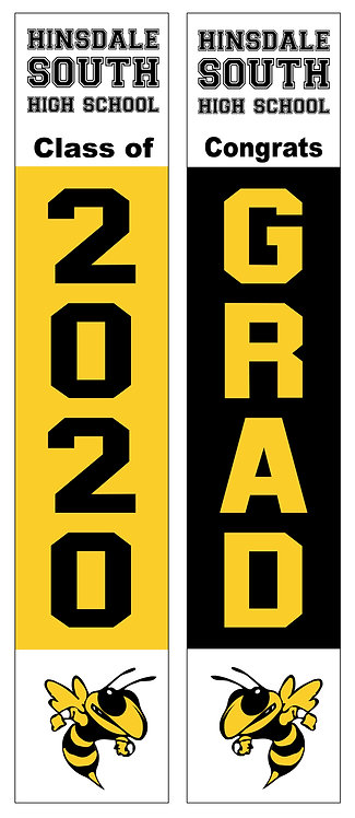 Hinsdale South Graduation Door Banner Set
