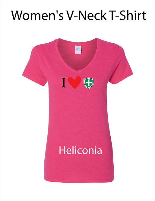 SJS Women's I Heart Shield Shirt - Heliconia