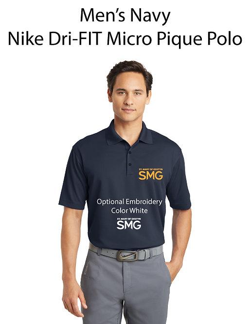 SMG Men's Nike Dri- Fit Polo - Navy