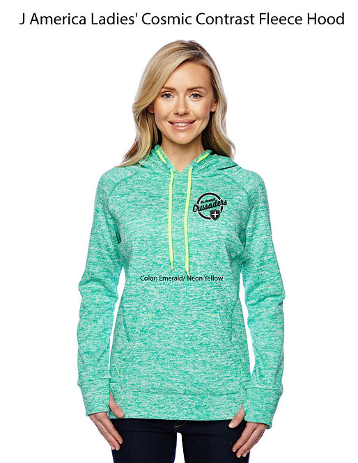 SJS Women's Heathered Sweatshirt - Neon Emerald