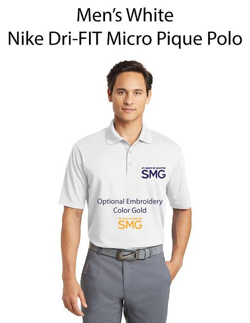 SMG Men's Nike Dri- Fit Polo - White