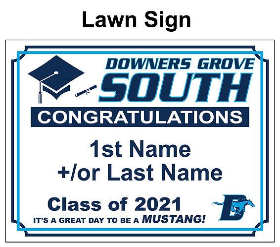 DGS Graduation Yard Sign