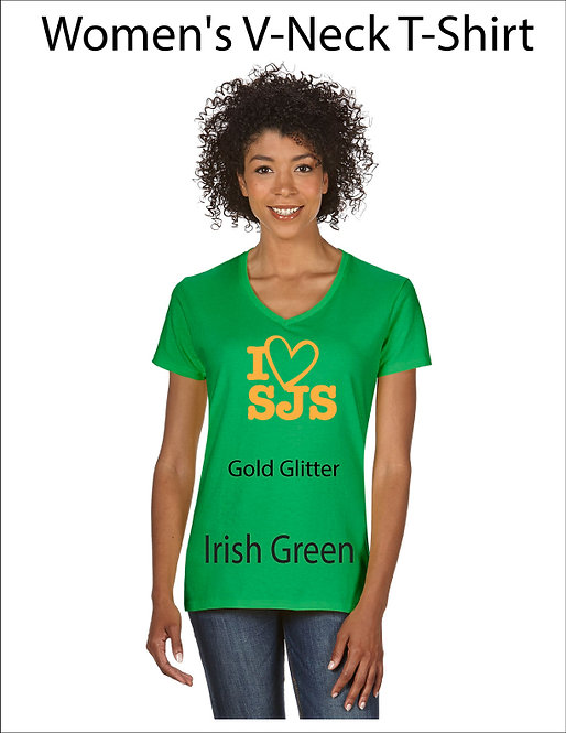 SJS Women's I Heart SJS Shirt - Irish Green