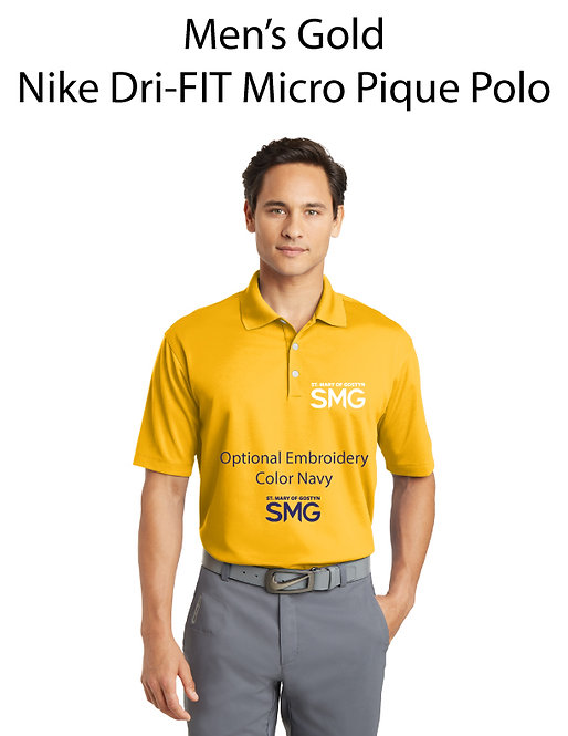 SMG Men's Nike Dri- Fit Polo - Gold
