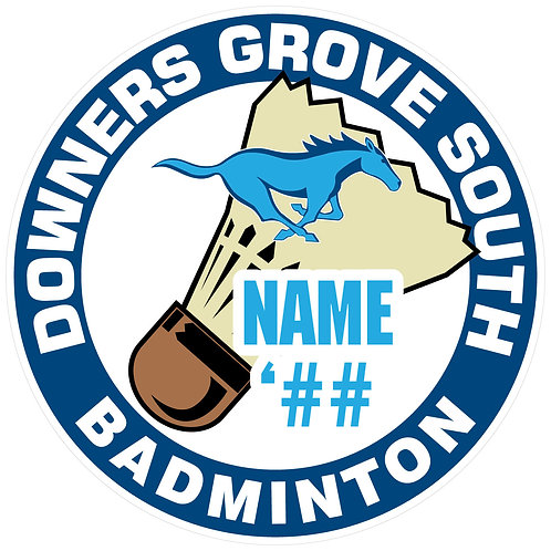 DGS Badminton Sticker