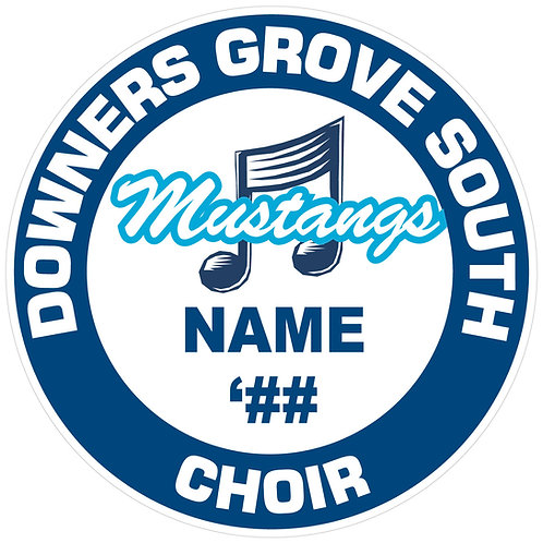 "DGS Choir ""Mustangs"" Sticker"
