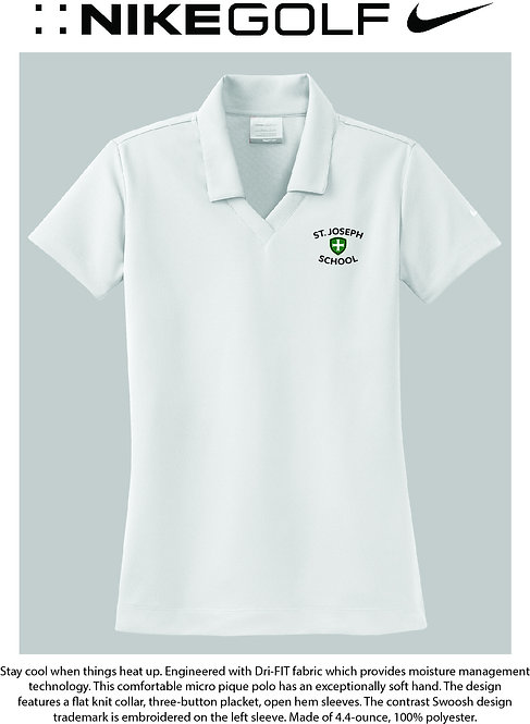 SJS Nike School Women's Polo - White