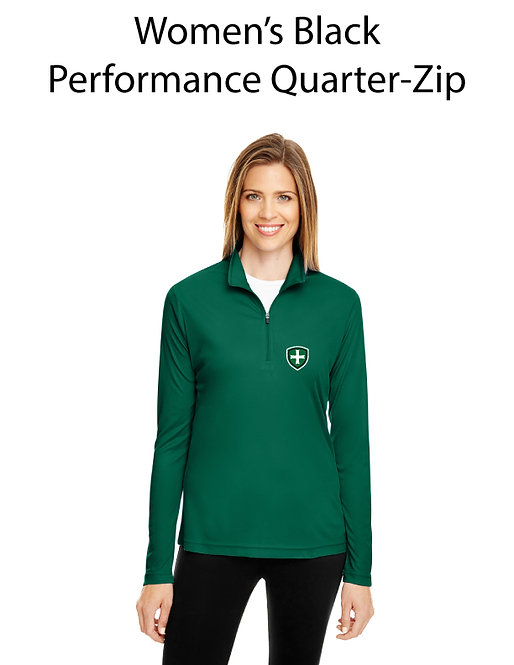 SJS Women's Quarter Zip Pullover - Green Shield