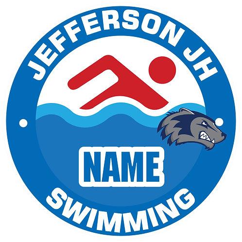 Jefferson Swimming Yard Sign