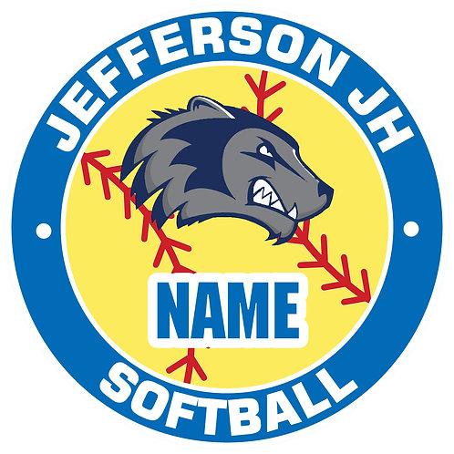 Jefferson Softball Yard Sign