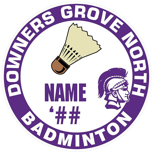 DGN Badminton Sticker