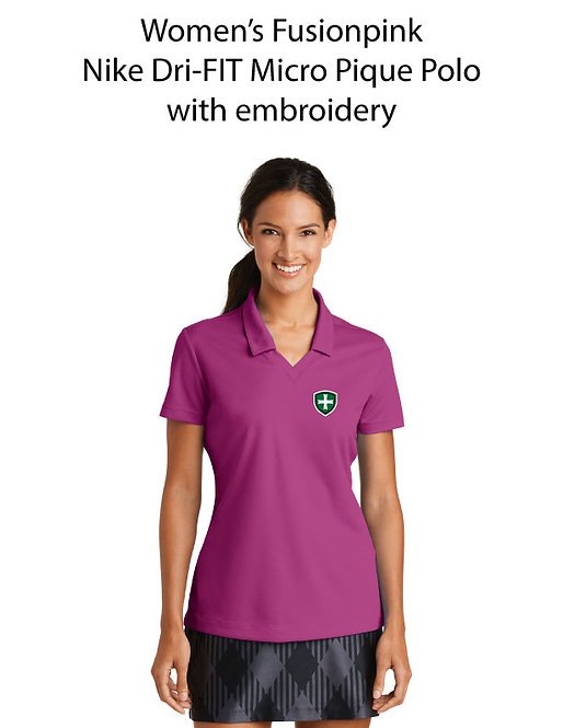 SJS Women's Nike Dri-Fit Polo - Fusion Pink